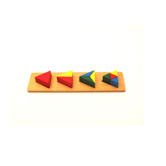 Bộ ghép hình tam giác<br>coloured triangles on 4 pegs
