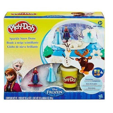 Bộ đất nặn Play-Doh Disney Frozen Sparkle Snow Dome - KN 4194