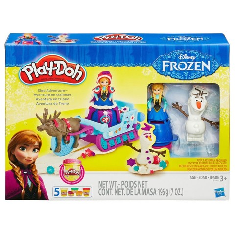 Bộ đất nặn Play-Doh Sled Adventure Featuring Disney's Frozen - KN 4195