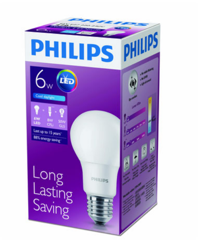 Bóng Led Bulb Philips 6W