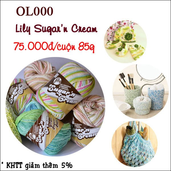 Len Cotton Lily Sugar'n Cream