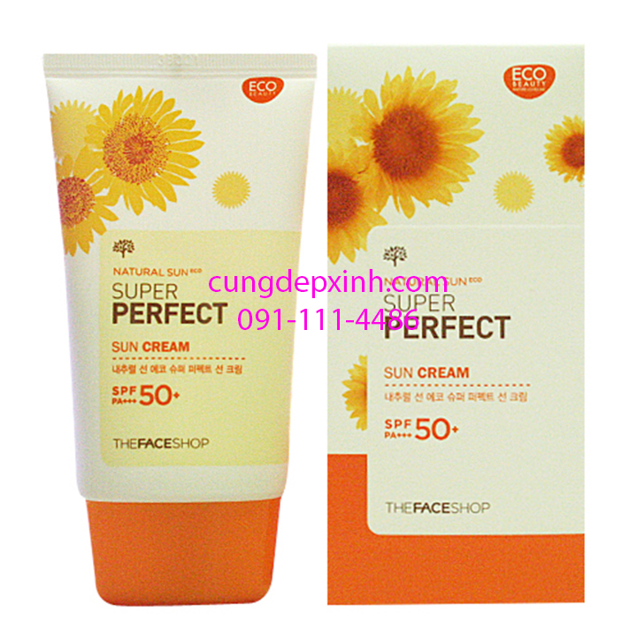 Kem chống nắng The Face Shop Natural Sun Eco Sun Cream SPF 50+ PA++ - www.TAICHINH2A.COM