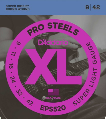 D'ADDARIO EPS520 STRINGS GUITAR
