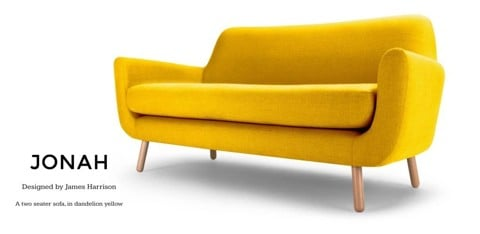 Jonah Sofa - sunshine yellow