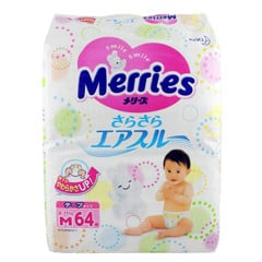 Bỉm Merries, Tã dán merries size M64