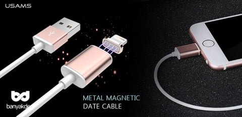 Cáp Sạc Từ Usams Metal Magnetic For IPhone & Ipad