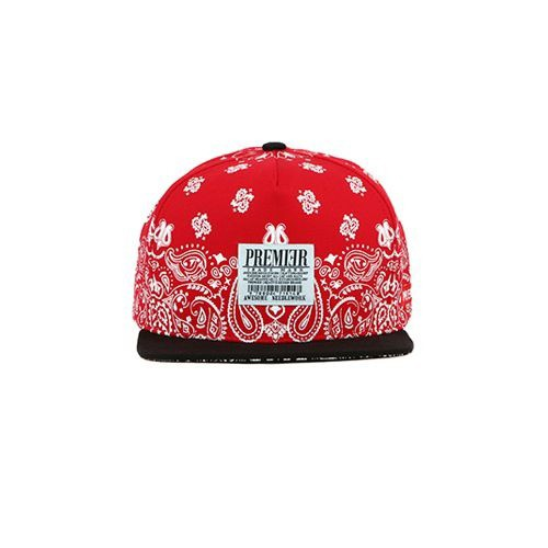 Sneaker.vn - Nón Snapback P267 SNOW PAISELY/RED.WH