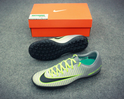 MERCURIAL VICTORY VI TF PURE PLATINUM/BLACK/GHOST GREEN