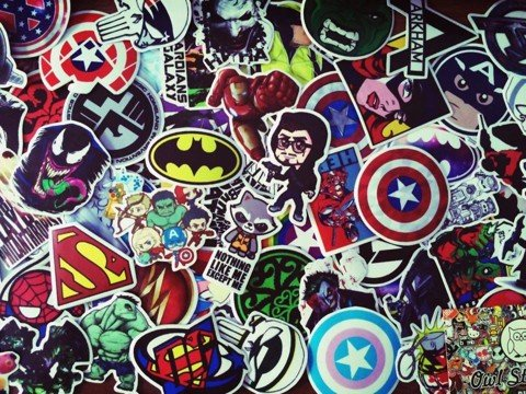 DC - Marvel Stickers