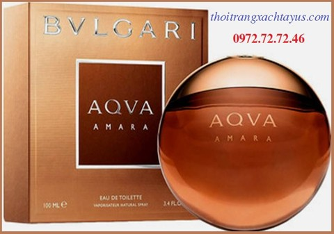 "NH 01L - NƯỚC HOA "" BVLGARI AQVA - AMARA "" 100ml / made in ITALY"