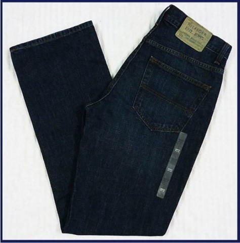 "QN 29 - QUẦN JEAN NAM "" TOMMY- HILFIGER ""xanh đen/ size 31/30 (made in mexico)"