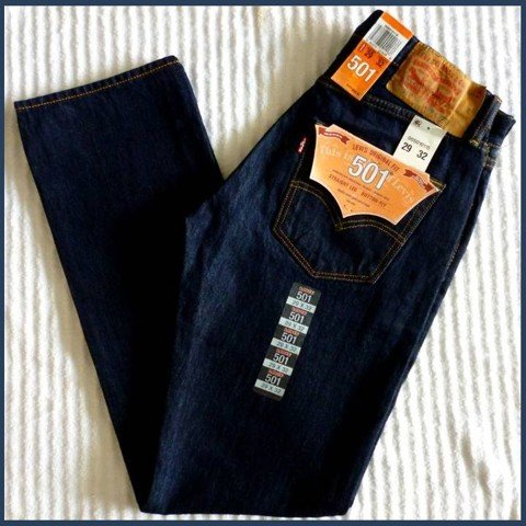 "QN 12 - QUẦN JEAN "" LEVIS from 501 ""màu xanh đậm  SIZE 29, 30 (made in mexico)"