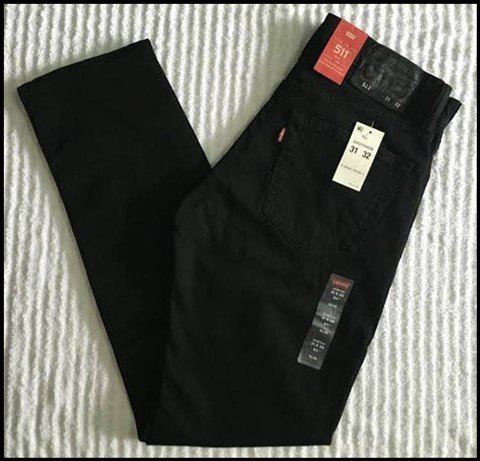 "QN 19 - QUẦN JEAN "" LEVIS form 511""slim fit/ màu đen mun SIZE 29/30_ 31 /32_32/30 (made in mexico)"