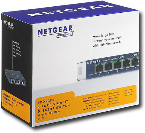 Switch Netgear GS108 Ethernet 10/100/1000 Mbps Gigabit