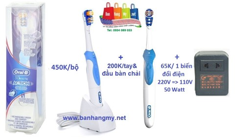 Oral-B 3D White Action - Pin sạc (110V)