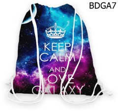Túi rút Keep calm and Love galaxy - BDGA7