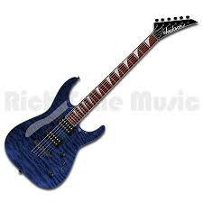 JACKSON 2910127586 JS Series Dinky™ Arch Top JS32TQ, Rosewood Fingerboard, Quilted Maple, Transparent Blue