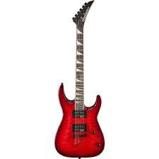 JACKSON 2910127590 JS Series Dinky™ Arch Top JS32TQ, Rosewood Fingerboard, Strings-Thru-Body, Quilted Maple Trans Red