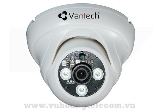 Camera Dome HDCVI 2.0MP VANTECH VP-108CVI (Trắng)