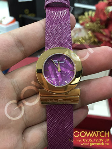 Salvatore Ferragamo Gancino Purple Dial Ladies Watch