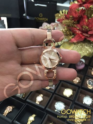 DKNY Rose Dial Rose Rose gold-tone Stainless Steel Ladies Watch