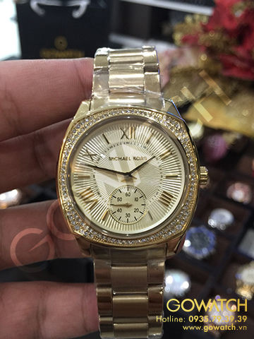 MICHAEL KORS Bryn Gold Dial Gold-plated Ladies Watch