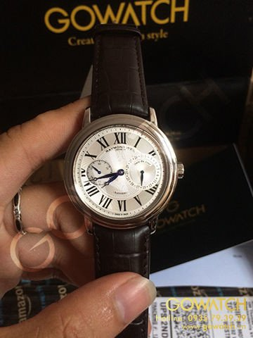 RAYMOND WEIL Maestro Silver Dial Brown Leather Men's Watch