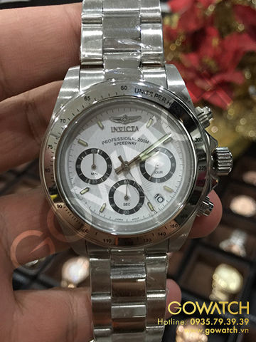 Invicta Men's Speedway Collection Stainless Steel Chronograph Watch with Link Bracelet