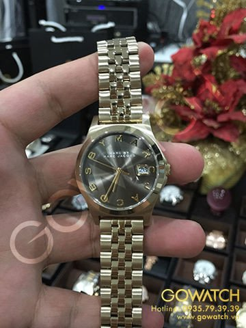 MARC BY MARC JACOBS Baker Brown Dial Gold-tone Ladies Watch
