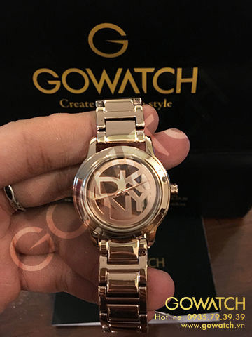 DKNY Rose dial Rose Gold-plated Ladies Watch