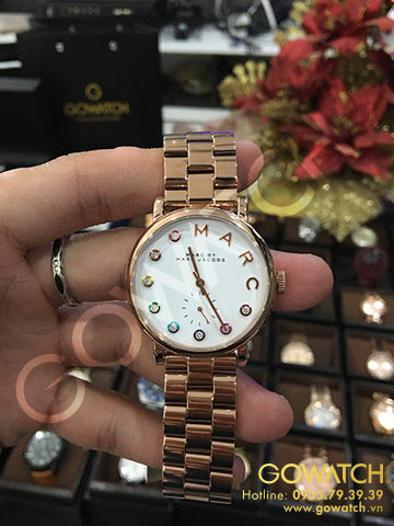 MARC BY MARC JACOBS Baker White Dail Rose Gold- tone Stainless Steel Ladies Watch