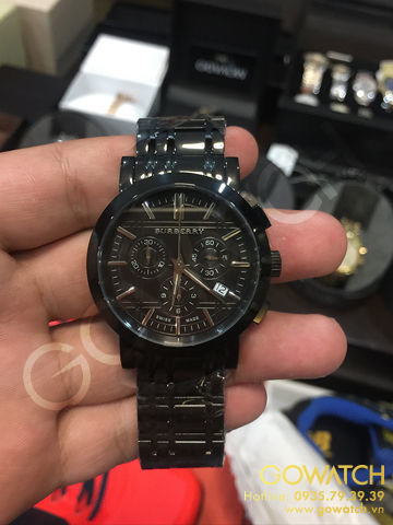 Burberry Black Ion Chronograph Men's Wristwatch