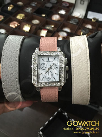 Women's Journee Collection Rhinestone Accented Square Face Watch