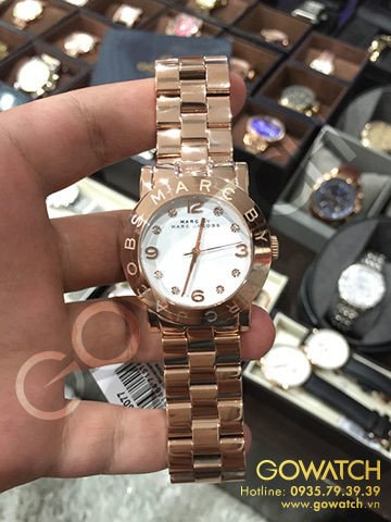 MARC BY MARC JACOBS  White Dial Rose Gold-Tone Stainless Steel Ladies Watch