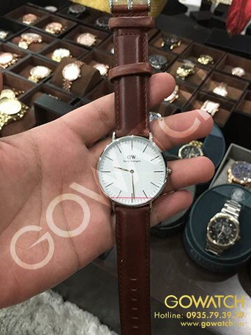 DANIEL WELLINGTON St Andrews White Dial Brown Leather Men's Watch