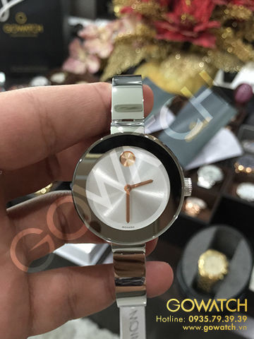 MOVADO Bold Silver Dial Stainless Steel Ladies Watch