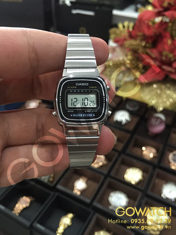 Casio Silver & Black Ladies Digital Watch