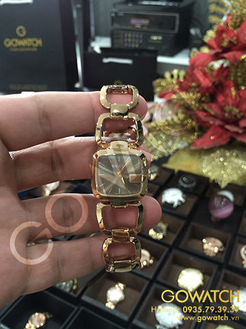 GUCCI G- Brown Sunbrushed Diamond Dial Gold-Tone Ladies Wach
