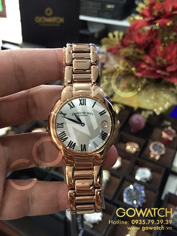 RAYMOND WEIL Jasmine Rose Gold-Tone Silver Dial Ladies Watch