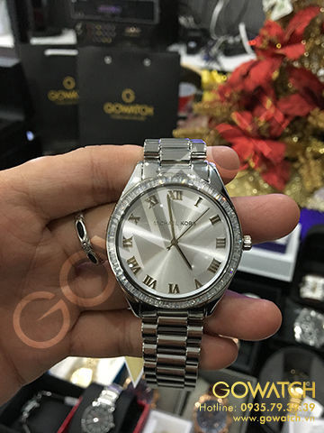 Michael Kors Blake Silver Stainless Steel Crystal Glitz Watch