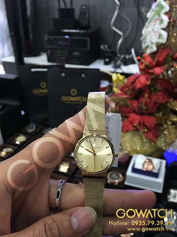 SKAGEN Ancher Champagne Dial Gold-plated Ladies Watch