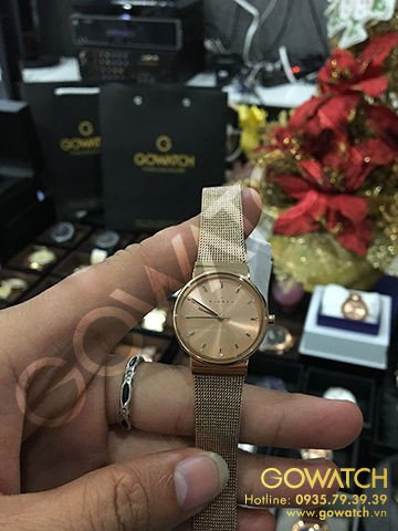 SKAGEN Ancher Rose Dila Rose Gold-plated Ladies Watch