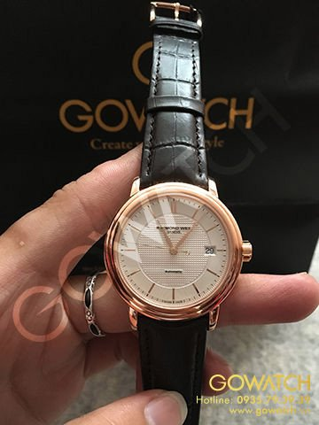 RAYMOND WEIL Maestro Silver Dial Brown Leather Automatic Men's Watch