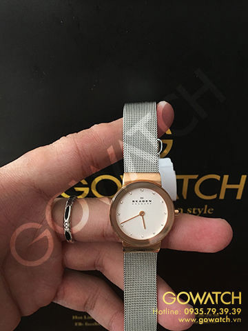 SKAGEN Freja White Dial Stainless Steel Ladies Watch