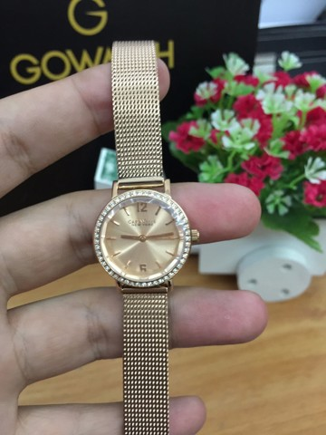 Caravelle New York Women's  Rose Gold-Tone Watch with Mesh Band