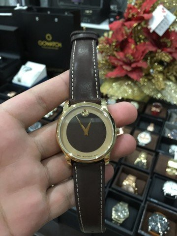 Movado Men's Swiss Museum Classic Brown Leather Strap Watch