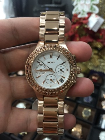 DKNY Chambers White Dial Rose Gold-plated Ladies Watch