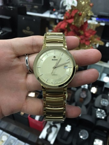 RADO Centrix Automatic Gold Dial Yellow Gold-Plated Men's Watch