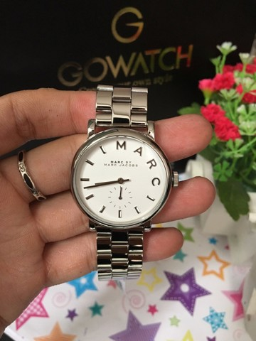 MARC BY MARC JACOBS Baker White Dial Steel Ladies Watch