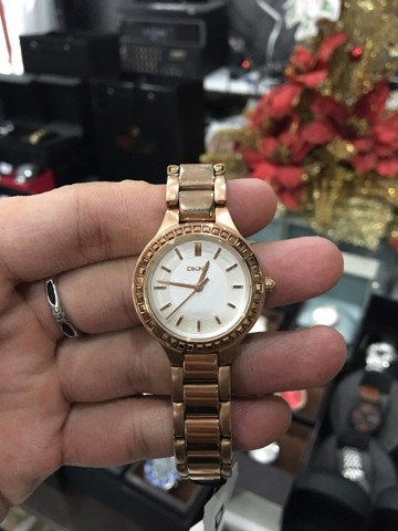 DKNY Chambers White Dial Rose Gold-tone Ladies Watch